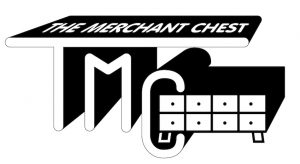 The Merchant chest Property maintenance logo in black and white